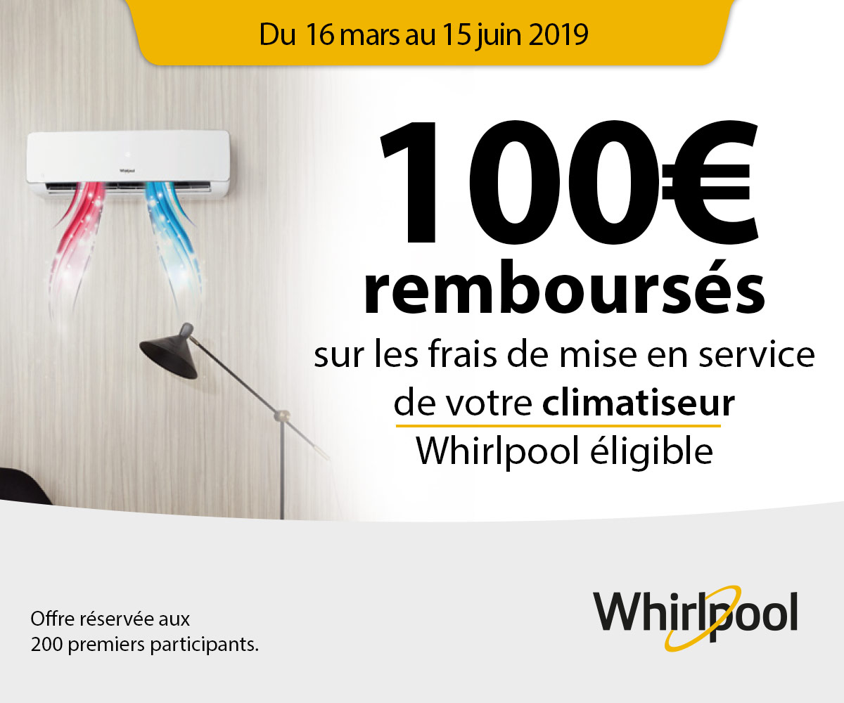Offre climatisation whirlpool