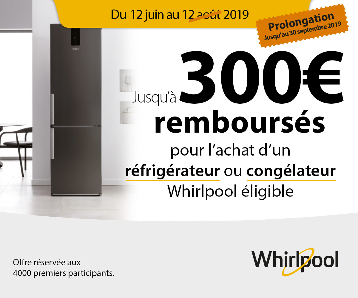 OFFRE FROID NO FROST WHIRLPOOL