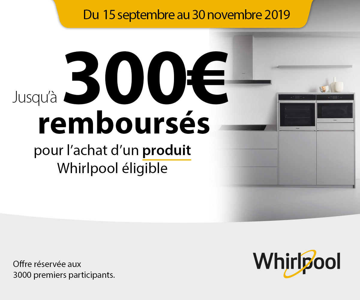 Offre Buying Group Automne Whirlpool