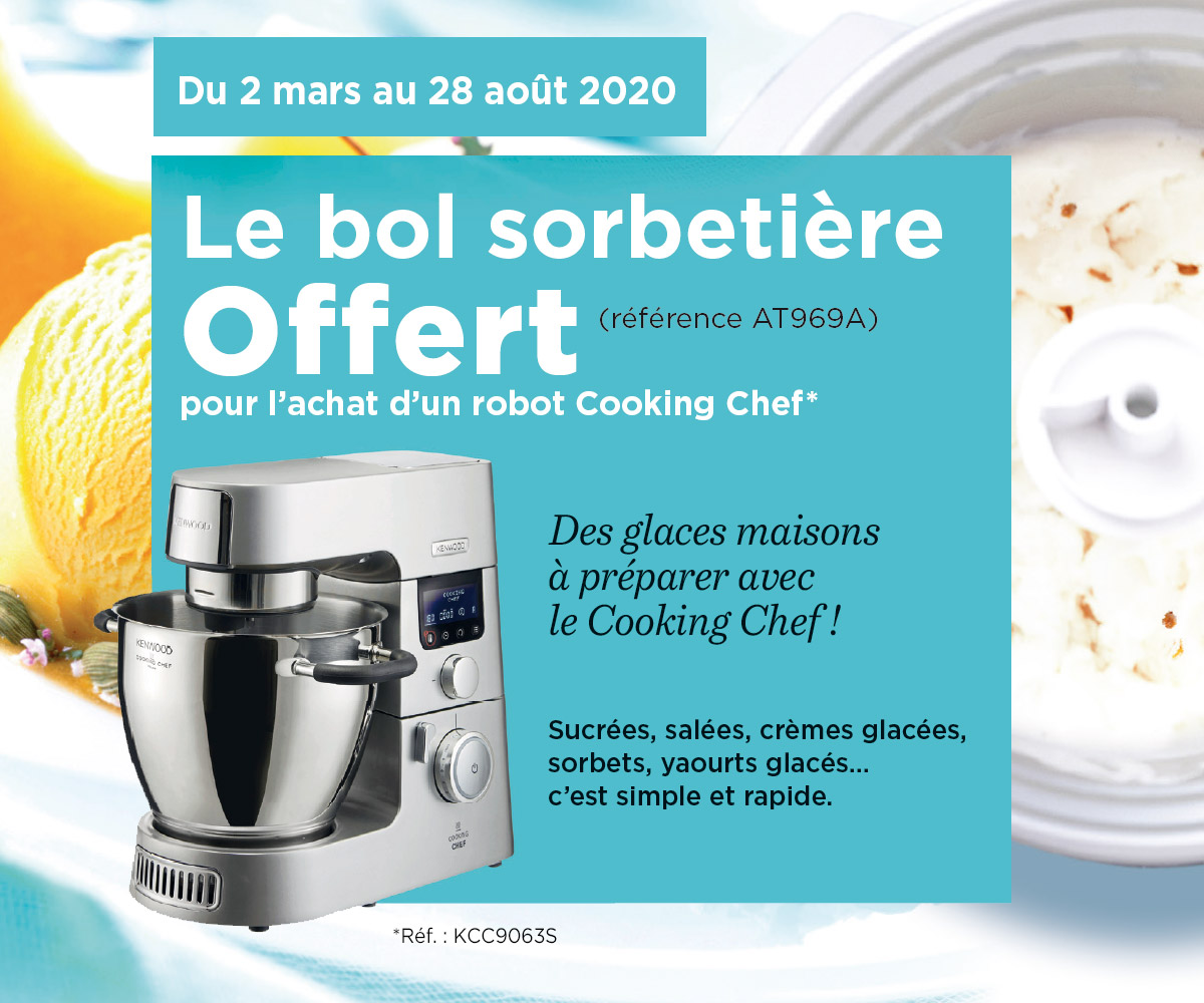 KENWOOD - Offre Cooking Chef Glaces & Sorbets
