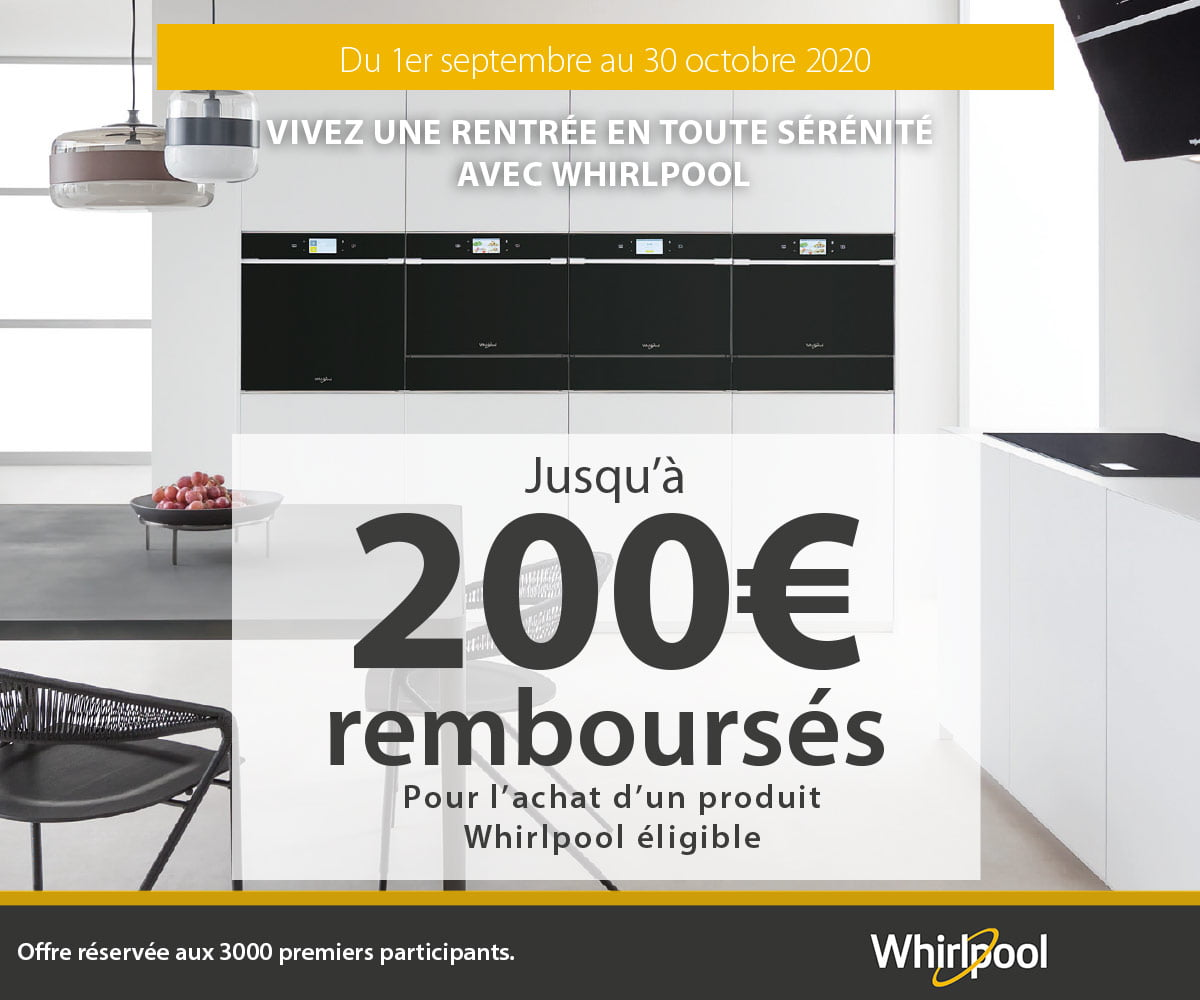 WHIRLPOOL Buying Group Back to School 2020 jusqu'à 200€ remboursés