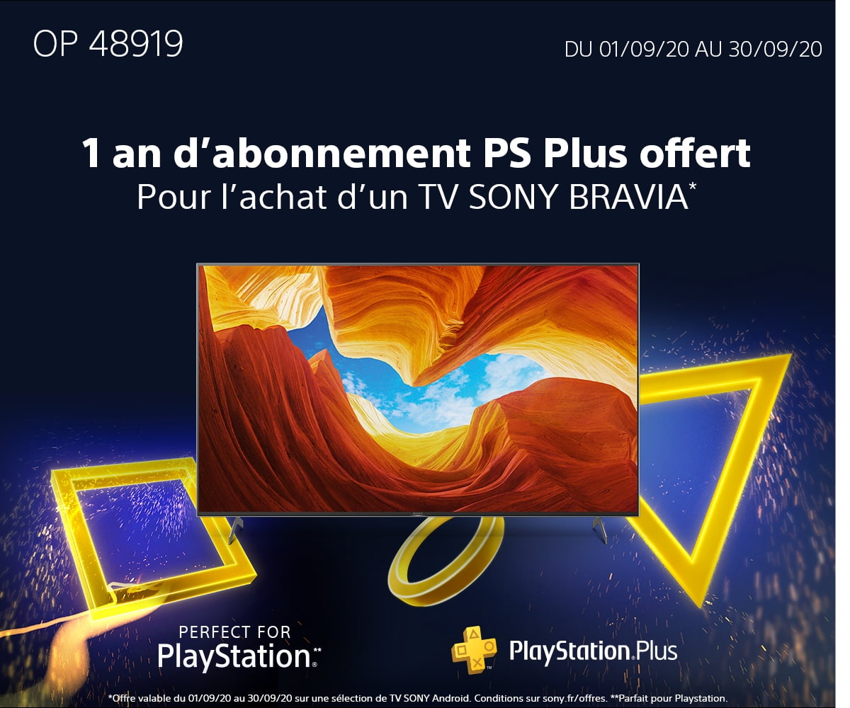 Offre SONY TV PS PLUS – BACK TO SCHOOL 2020