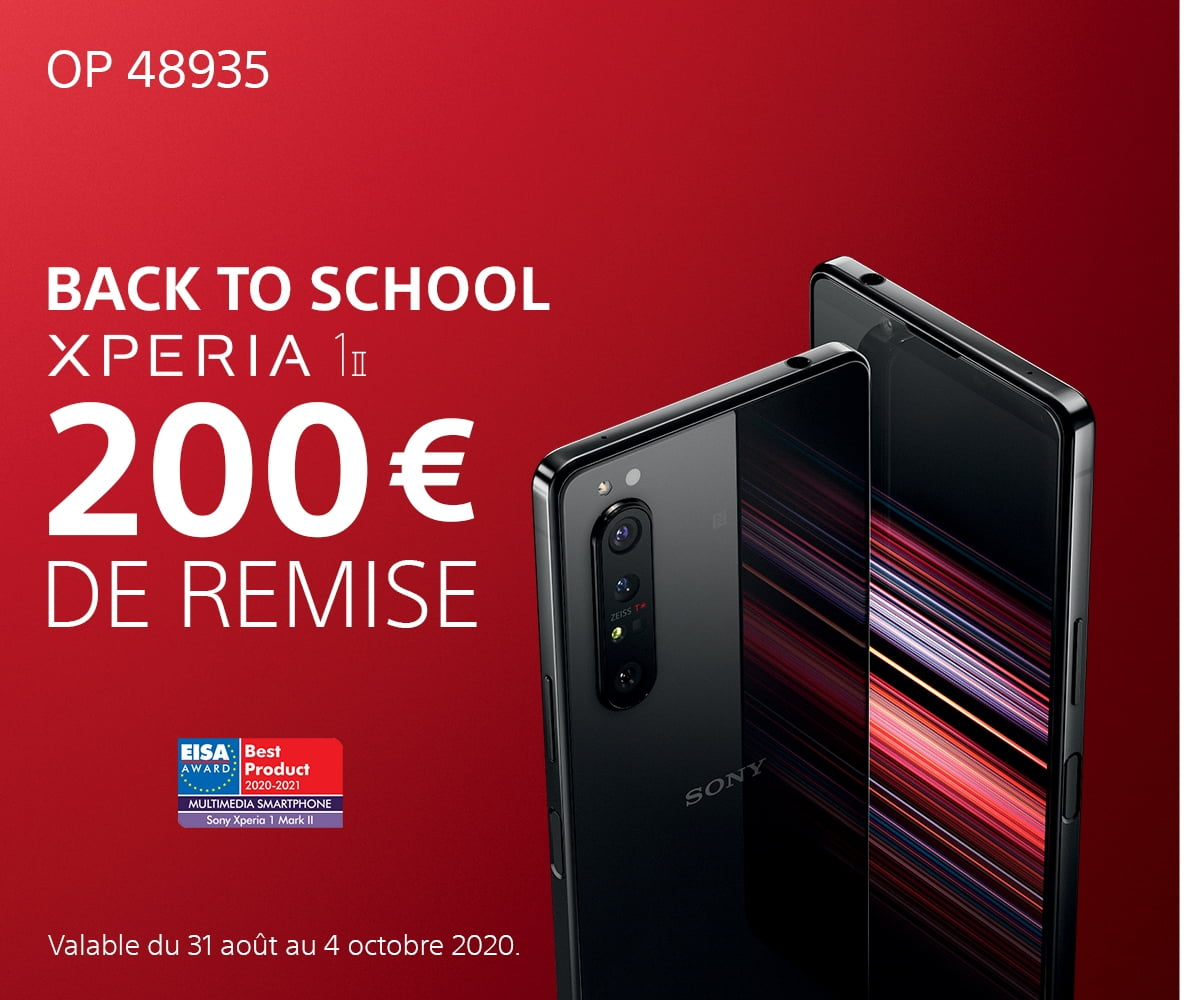 Offre Xperia 1II Back to school 2020